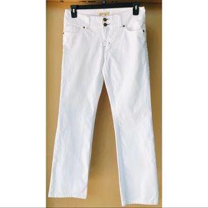 CAbi white Denim Straight leg jeans